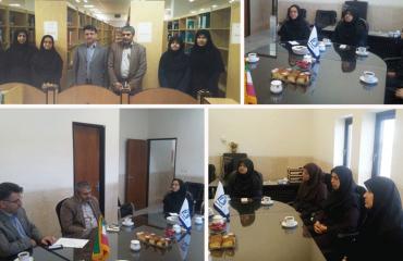 دیدار ریاست و معاونت پژوهشی و فناوری با همکاران کتابخانه