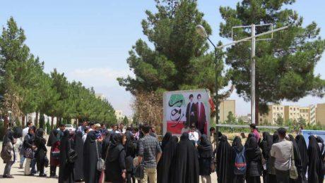 تریبون آزاد دانشجویی با موضوع شرکت در انتخابات در دانشگاه دامغان