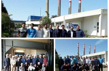 بازدید علمی دانشجویان مهندسی مکانیک دانشگاه دامغان از نیروگاه