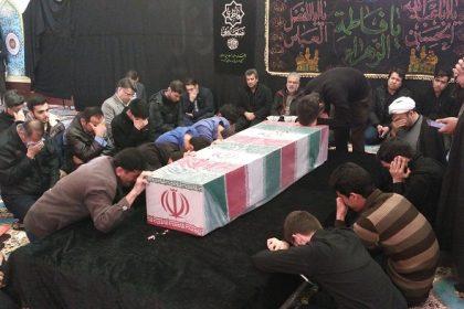 آئین وداع با شهید گمنام دفاع مقدس در دانشگاه دامغان برگزار شد
