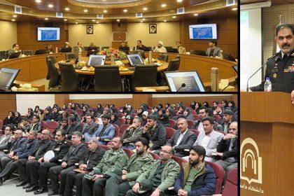 جلسه هم انديشي دريادار ايراني با دانشگاهيان دانشگاه دامغان