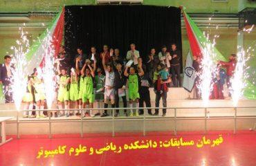 مسابقات قهرماني فوتسال دانشکده ها با قهرماني تيم دانشکده رياضي و علوم کامپيوتر پايان يافت
