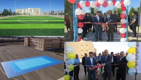 دو طرح ورزشي دانشگاه دامغان به بهره برداري رسيد