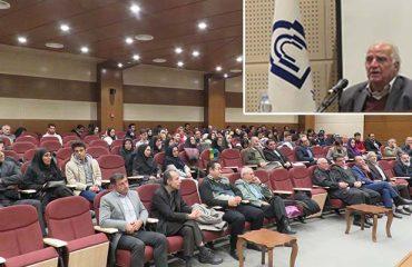 مراسم بزرگداشت هفته کتاب با حضور استاد حکيمي در دانشگاه دامغان برگزار شد