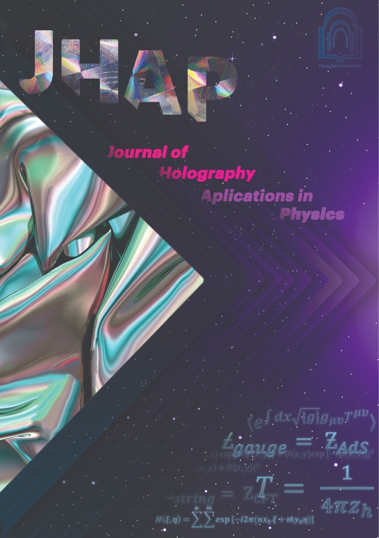صدور پروانه انتشار نشریه  Journal of Holography Applications in Physics